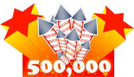 500000 visite